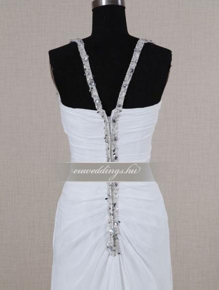 Esküvői ruha egyenes fazonú pántos-EFP-8096