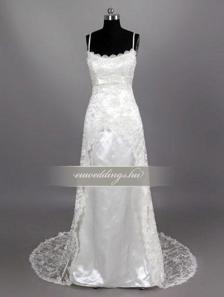 Esküvői ruha egyenes fazonú pántos-EFP-8139