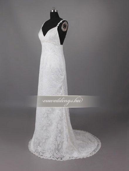 Esküvői ruha egyenes fazonú pántos-EFP-8144