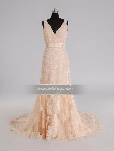 Esküvői ruha egyenes fazonú pántos-EFP-8231