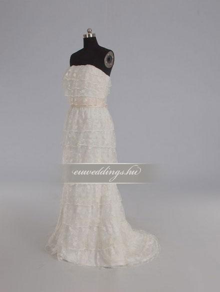 Esküvői ruha egyenes fazonú ujjatlan-EFU-8369