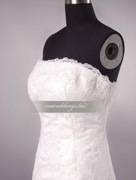 Esküvői ruha egyenes fazonú ujjatlan-EFU-8374