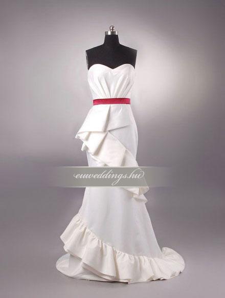 Esküvői ruha egyenes fazonú ujjatlan-EFU-8389