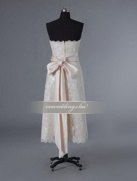 Esküvői ruha egyenes fazonú ujjatlan-EFU-8403