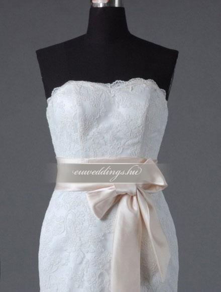 Esküvői ruha egyenes fazonú ujjatlan-EFU-8426