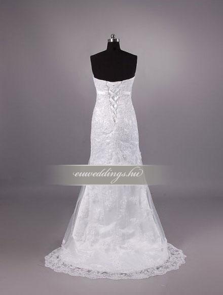 Esküvői ruha egyenes fazonú ujjatlan-EFU-8430