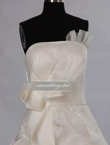 Esküvői ruha egyenes fazonú ujjatlan-EFU-8455