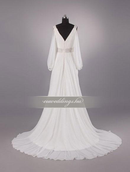 Menyasszonyi ruha empire fazonú hosszú ujjú-EPH-8574