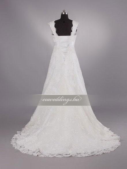 Menyasszonyi ruha empire fazonú pántos-EPP-8604