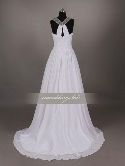 Menyasszonyi ruha empire fazonú pántos-EPP-8614
