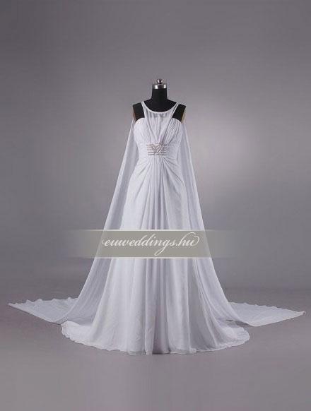Menyasszonyi ruha empire fazonú pántos-EPP-8619