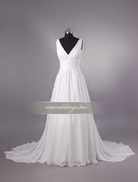Menyasszonyi ruha empire fazonú pántos-EPP-8624