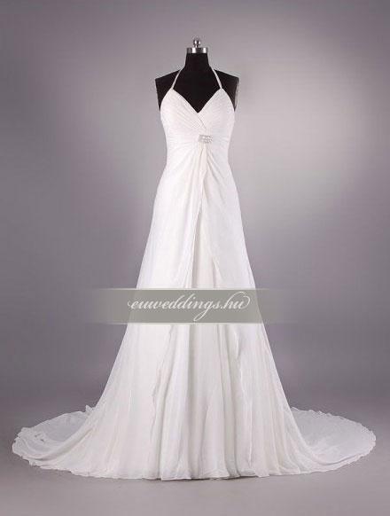 Menyasszonyi ruha empire fazonú pántos-EPP-8632