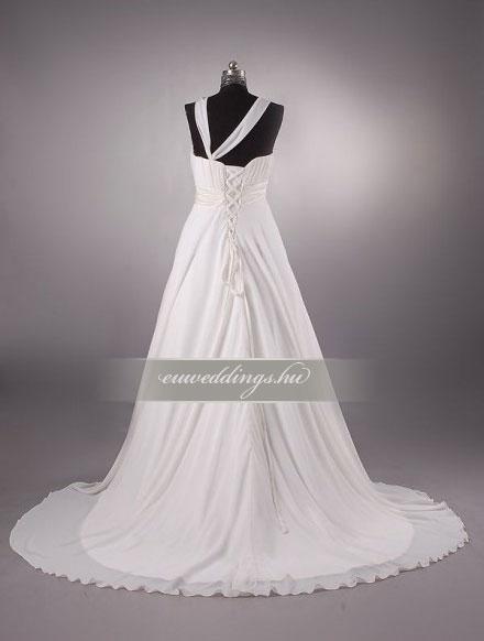 Menyasszonyi ruha empire fazonú pántos-EPP-8636