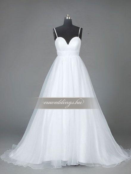 Menyasszonyi ruha empire fazonú pántos-EPP-8682
