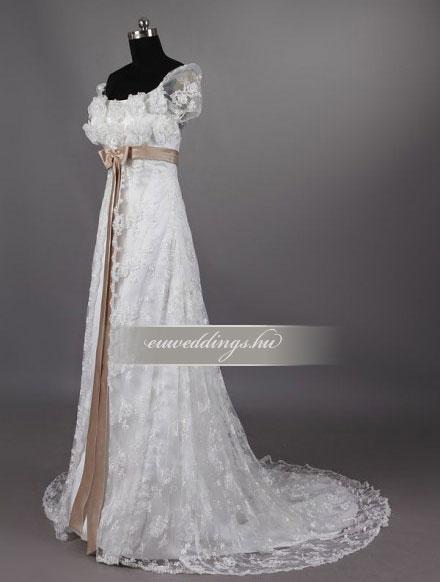 Menyasszonyi ruha empire fazonú pántos-EPP-8721