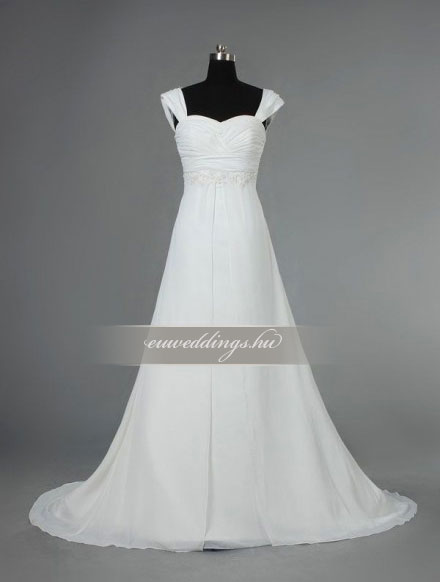 Menyasszonyi ruha empire fazonú pántos-EPP-8726