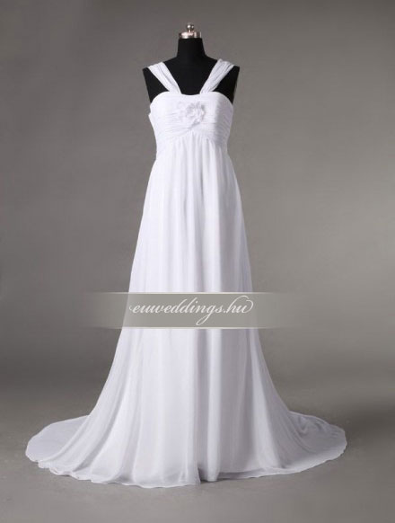 Menyasszonyi ruha empire fazonú pántos-EPP-8755