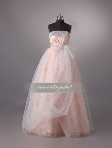 Menyasszonyi ruha empire fazonú színes és mintás-EPS-8814