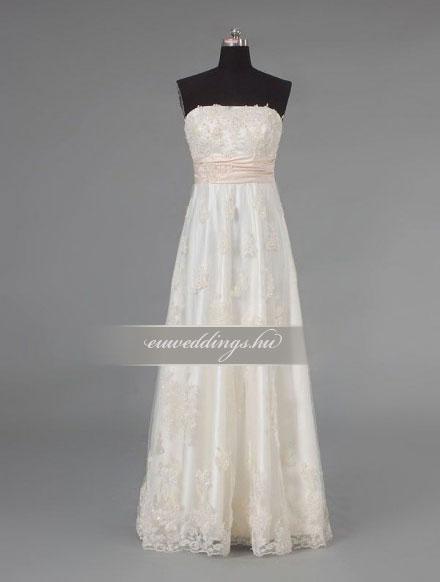 Menyasszonyi ruha empire fazonú színes és mintás-EPS-8824