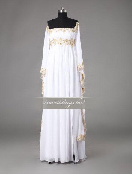 Menyasszonyi ruha empire fazonú színes és mintás-EPS-8839