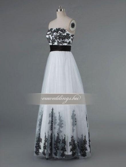 Menyasszonyi ruha empire fazonú színes és mintás-EPS-8859