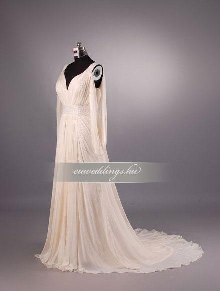 Menyasszonyi ruha empire fazonú színes és mintás-EPS-8867