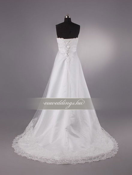 Menyasszonyi ruha empire fazonú ujjatlan-EPU-8892