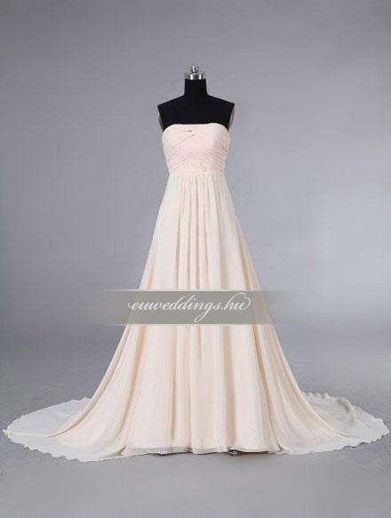 Menyasszonyi ruha empire fazonú ujjatlan-EPU-8917