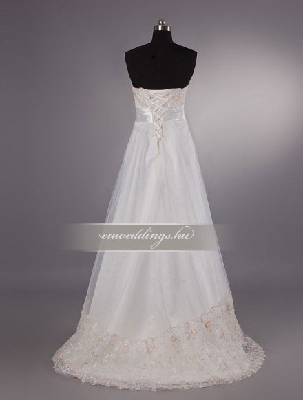 Menyasszonyi ruha empire fazonú ujjatlan-EPU-8941