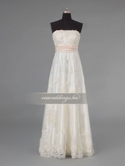 Menyasszonyi ruha empire fazonú ujjatlan-EPU-8981