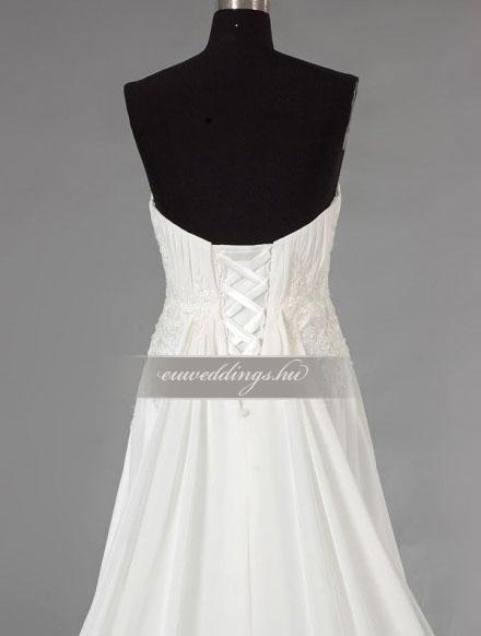 Menyasszonyi ruha empire fazonú ujjatlan-EPU-8991