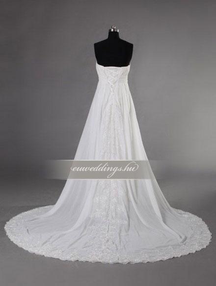 Menyasszonyi ruha empire fazonú ujjatlan-EPU-8996