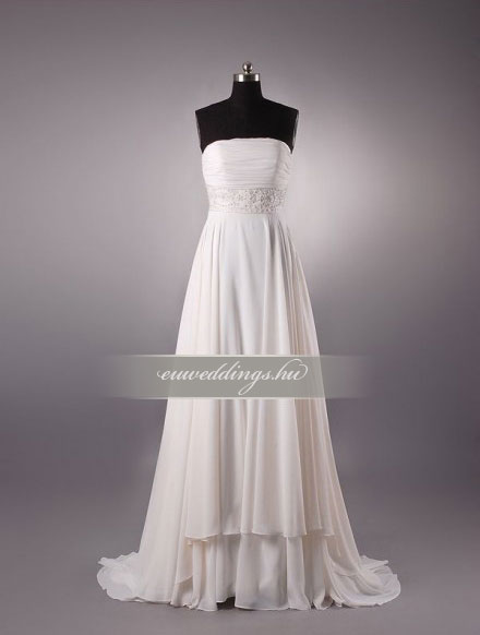 Menyasszonyi ruha empire fazonú ujjatlan-EPU-9010