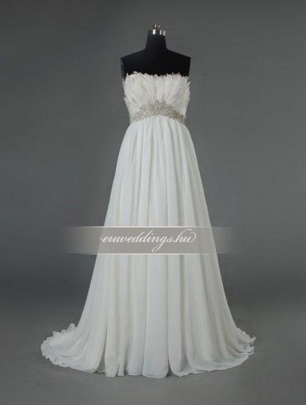 Menyasszonyi ruha empire fazonú ujjatlan-EPU-9020