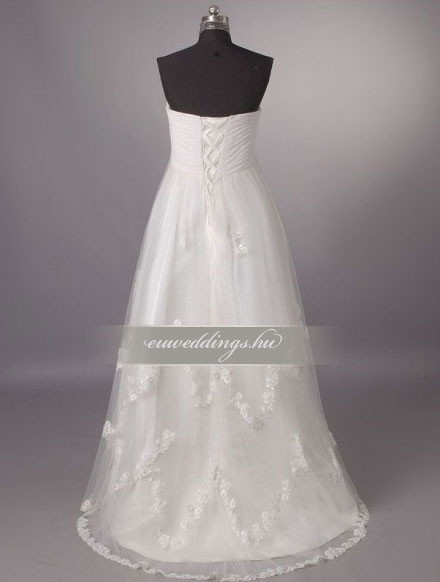 Menyasszonyi ruha empire fazonú ujjatlan-EPU-9024