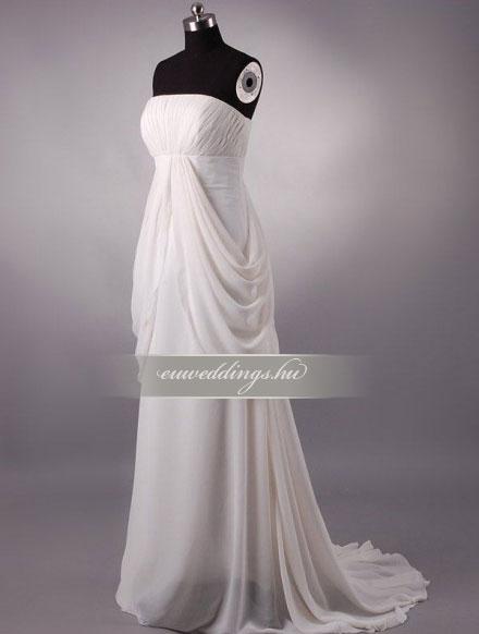 Menyasszonyi ruha empire fazonú ujjatlan-EPU-9029
