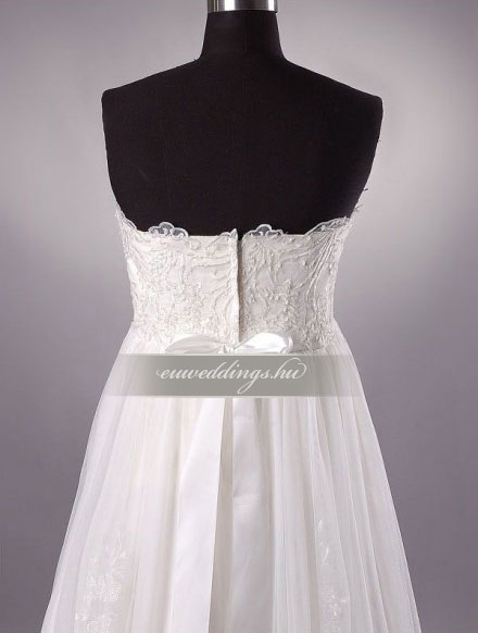 Menyasszonyi ruha empire fazonú ujjatlan-EPU-9068