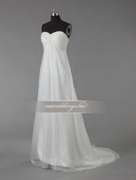 Menyasszonyi ruha empire fazonú ujjatlan-EPU-9104