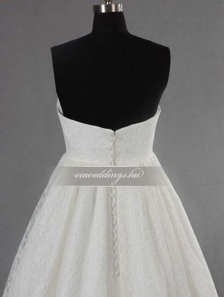 Menyasszonyi ruha empire fazonú ujjatlan-EPU-9109
