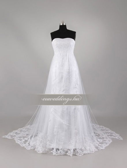 Menyasszonyi ruha empire fazonú ujjatlan-EPU-9132