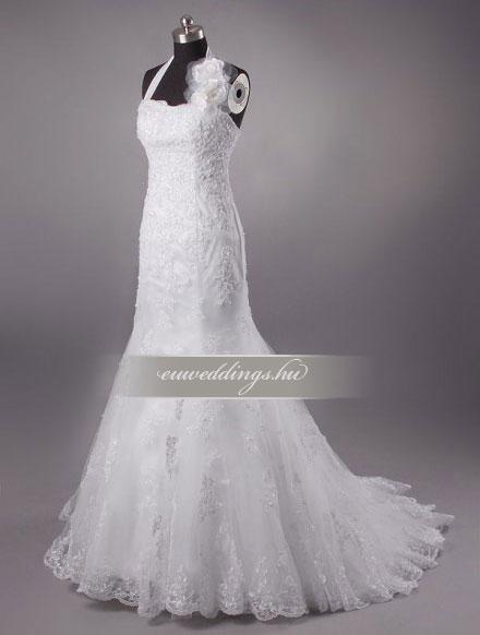 Esküvői ruha sellő fazonú pántos-SFP-9982