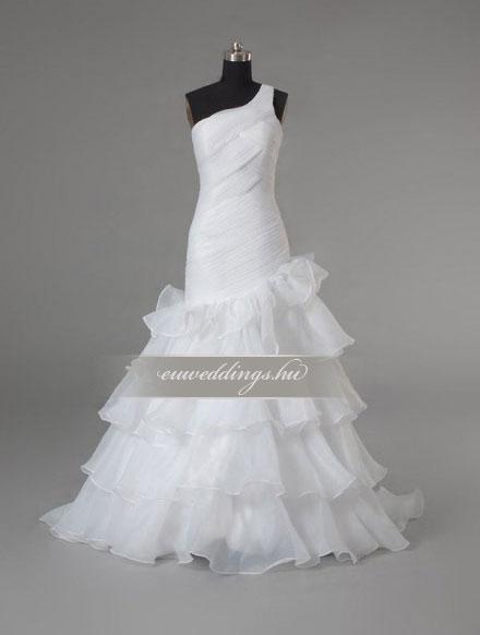 Esküvői ruha sellő fazonú pántos-SFP-10003