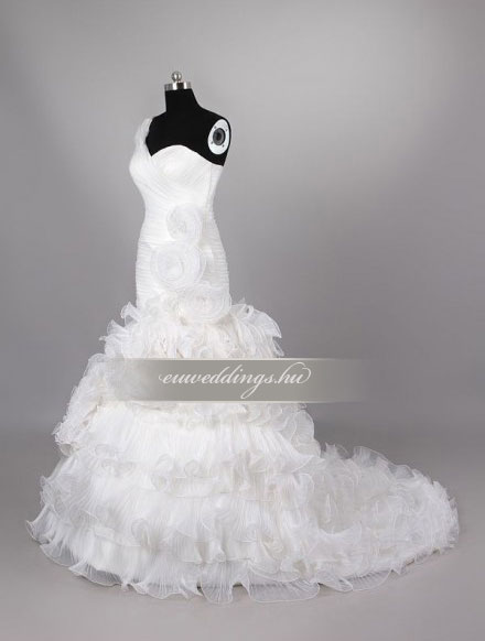 Esküvői ruha sellő fazonú pántos-SFP-10008