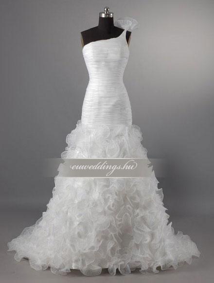 Esküvői ruha sellő fazonú pántos-SFP-10013