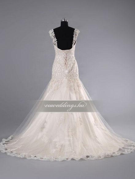 Esküvői ruha sellő fazonú pántos-SFP-10043