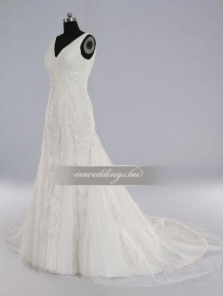 Esküvői ruha sellő fazonú pántos-SFP-10062