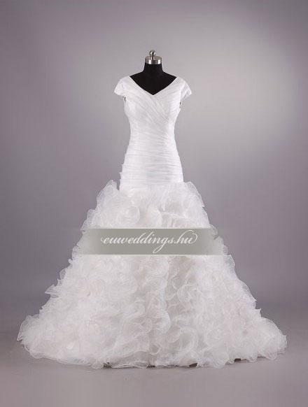 Esküvői ruha sellő fazonú pántos-SFP-10067