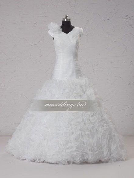 Esküvői ruha sellő fazonú pántos-SFP-10072