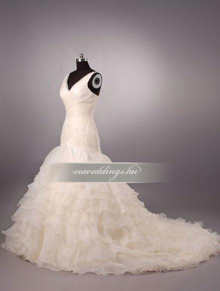 Esküvői ruha sellő fazonú pántos-SFP-10077
